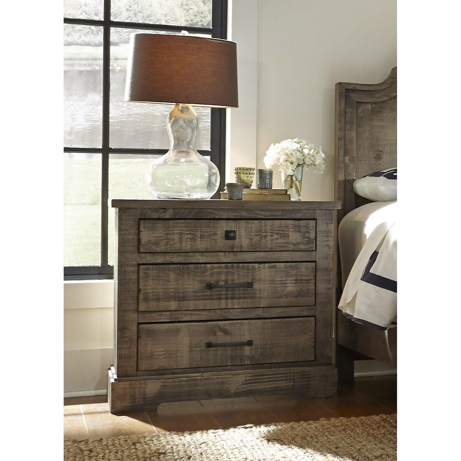 Progressive Furniture Meadow 3 Drawer Nightstand