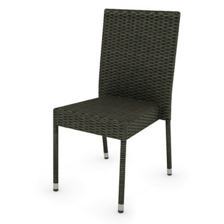 Corliving Park Terrace Wicker Patio Dining Chairs (Set of 4)