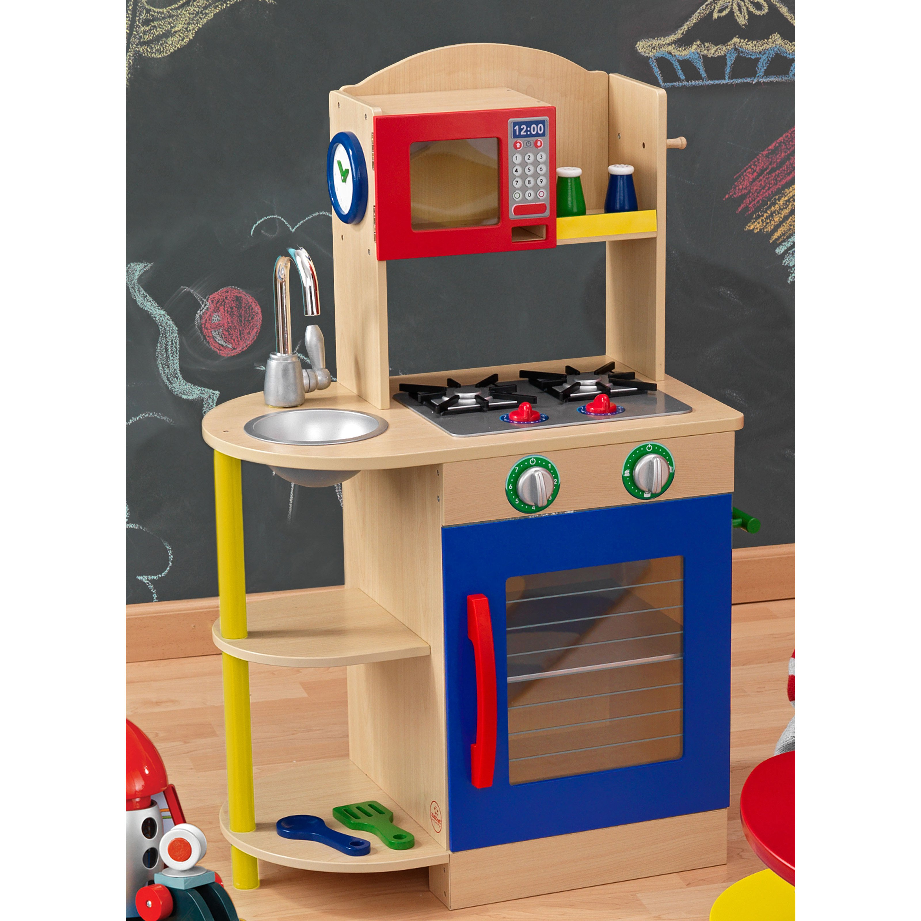 Kidkraft Colorful Wooden Play Kitchen 53194