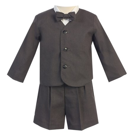 Baby Boys Charcoal Eton Short Formal Ring Bearer Suit 18-24M - Ring Bearer Outfits
