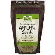 NOW Foods Real Food Certified Organic Alfalfa Seeds 12 oz - Vegan