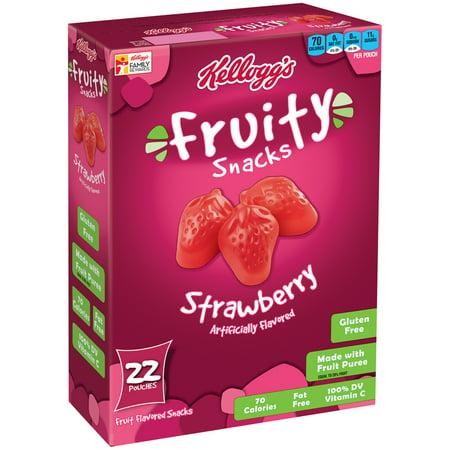 (Kellogg's Strawberry Fruity Snacks, 22 pouches)