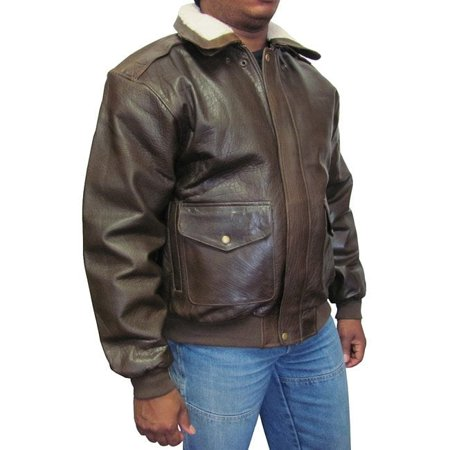 Mens Rambler Brown Bomber - Amerileather  Men's Distressed Brown Leather Bomber Jacket XL