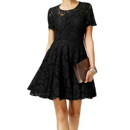 Michael Kors NEW Black Women's Size 0 Floral Lace A-Line Sheath Dress (Michael Kors Casual Dresses)