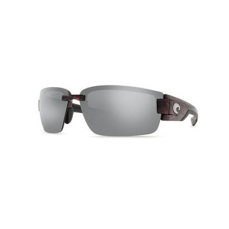 RP Rockport Tortoise Sport Sunglasses Silver Lens 580P ()