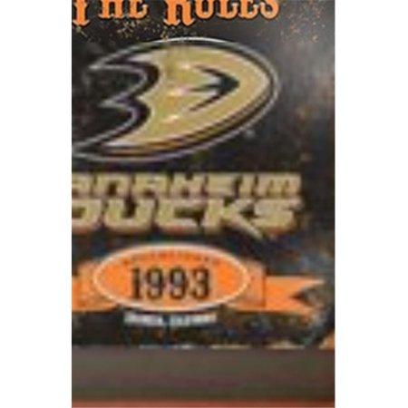 Party Animal VSDUC Anaheim Ducks Embossed Metal Sign
