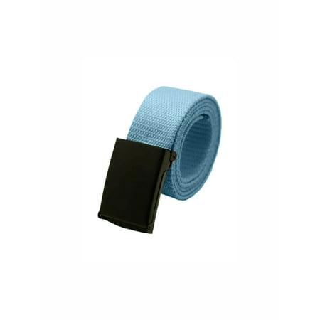 Unique Bargains Unisex Slide Buckle Canvas No Holes Adjustable Waist Belt Width 1 5/8