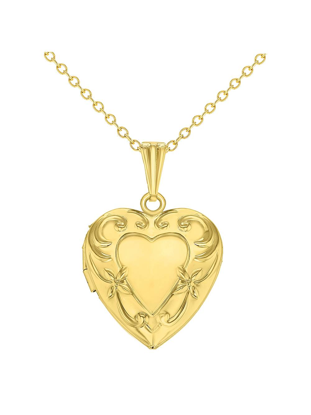 Love Heart Girls Locket Pendant Necklace Memories Teen Kids 16""