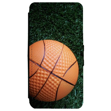 more photos e7c93 31c50 Image Of Basketball on Grass Background Apple iPhone 8 Leather Flip Phone  Case