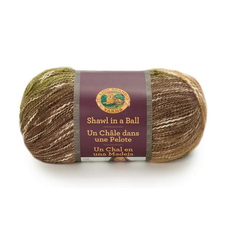Lion Brand Shawl in a Ball Yarn: Cotton & Acrylic, Peaceful Earth