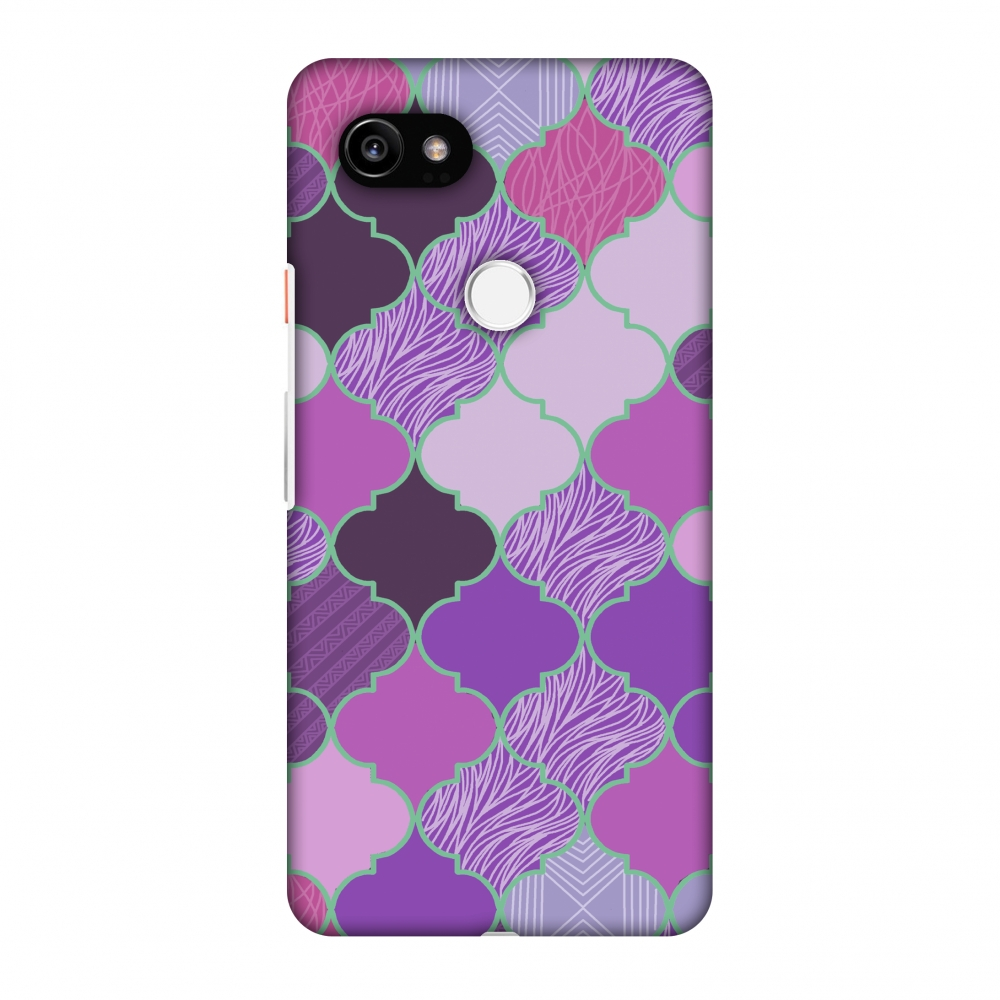 Google Pixel 2 XL Case - Stained glass- Lavender, Hard Plastic Back Cover, Slim Profile Cute Printed Designer Snap on Case with Screen Cleaning Kit