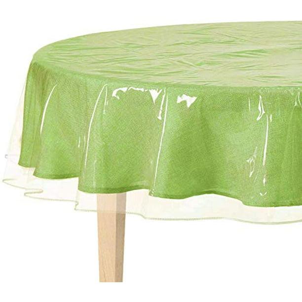 Bnyd Clear Plastic Tablecloth Protector Table Cloth Vinyl 70 Round Walmart Com Walmart Com