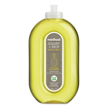 Method Squirt + Mop Hard Floor Cleaner 25 oz Spray Bottle Lemon Ginger 6/Carton 00563CT