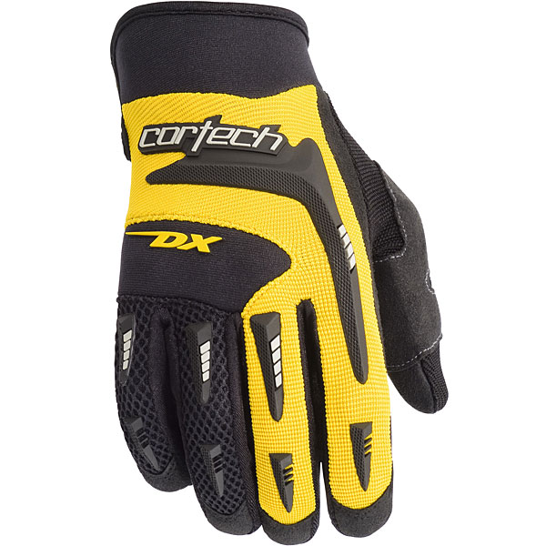 Cortech DX 2 Youth Textile Gloves Yellow
