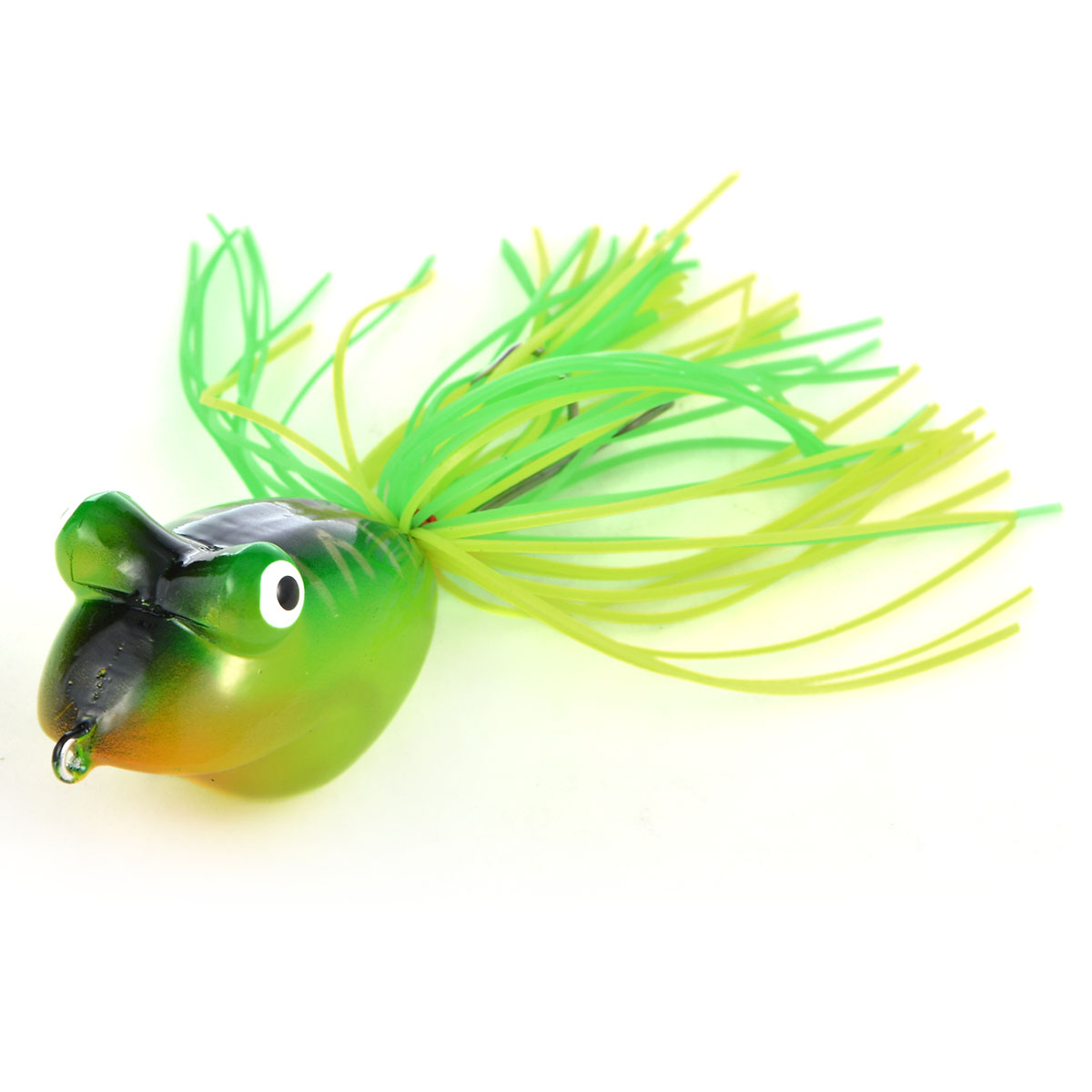 Hollow Bodied Realistic Frog Fishing Hard Lure with Rubber Skirt Color No.14