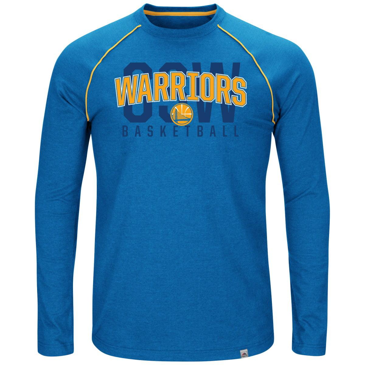 "Golden State Warriors Majestic NBA ""Hit the Mark"" Men's Tri-Blend S/S T-Shirt"