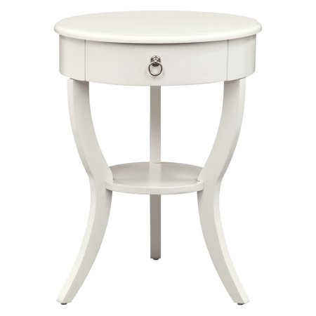 Weston Home Reynold Round Side Table, White ()
