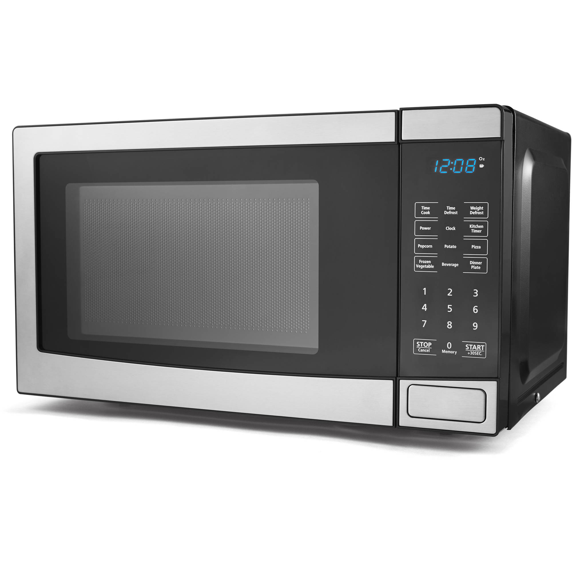 Mainstays 0.7 cu ft Microwave Oven, Stainless Steel
