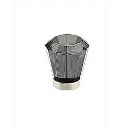 Emtek 86541 Brookmont Series 1-1/4 Inch Diameter Smoke Crystal Designer Cabinet, Polished Brass