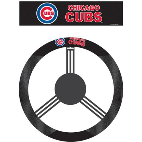 Fremont Die 68516 Poly-Suede Steering Wheel Cover - Chicago Cubs