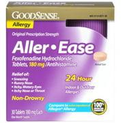 Good Sense Aller-Ease Fexofenadine Hydrochloride Tablets, 180 mg 30 ea (Pack of 3)