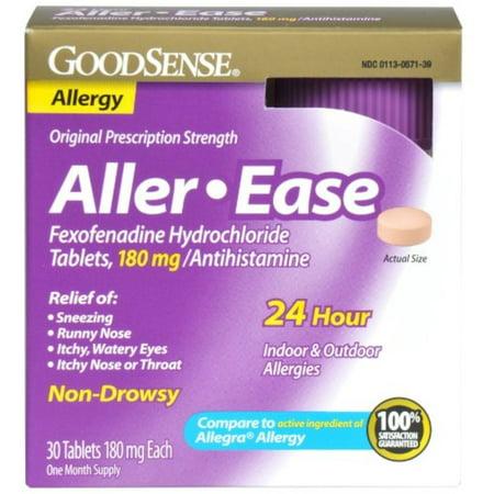 Good Sense Aller-Ease Fexofenadine Hydrochloride Tablets, 180 mg 30 ea