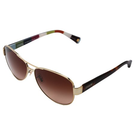 6e436557c7 Coach - Coach Women s  L012 Kristina HC7003  9010T3 Metal Aviator Polarized  Sunglasses Dark Silver Pink   Grey Gradient - Walmart.com