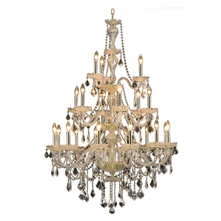 UPC 842814129504 product image for Elegant Lighting Value Giselle 21LT Gold Chandelier - V7890G38G/RC | upcitemdb.com