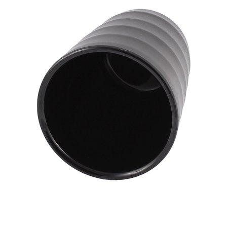 Home Restaurant Plastic Cylinder Shaped Water Tea Drinking Cup Black - image 1 de 3