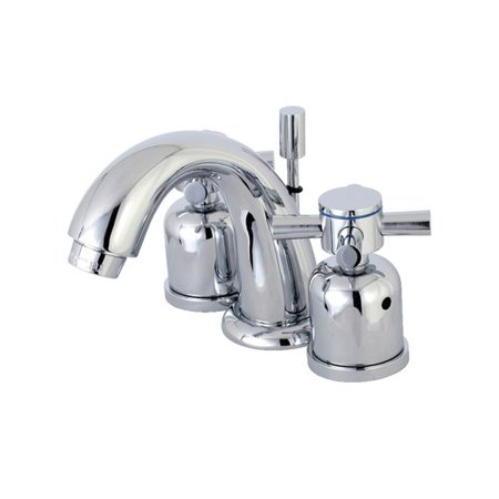 Lavatory Set Polish - Kingston Brass Concord KB8911DX Mini Widespread Lavatory Faucet with Retail Pop-up Drain, Polished Chrome