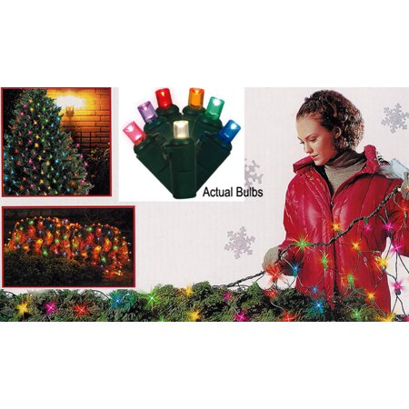 4 x 6 Multi-Color LED Net Style Christmas Lights - Green Wire