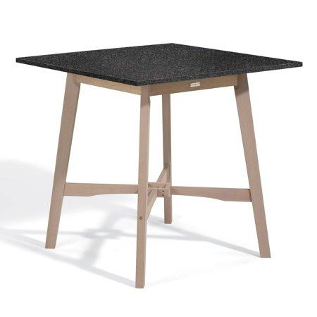 Oxford  Garden Wexford 42-inch Lite-Core Granite Charcoal Bar Table with Grigio Shorea