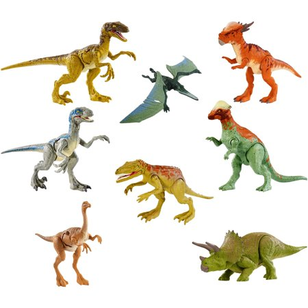Jurassic World Battle Damage Dinosaur Action Figures