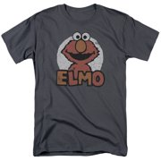 Sesame Street Classic Children's TV Show Elmo Distressed Adult T-Shirt Tee by