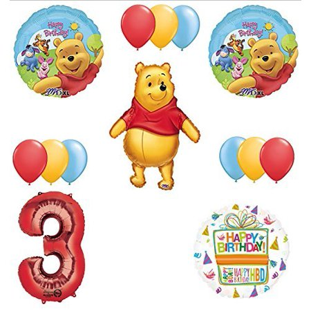Winnie The Pooh 3rd First Birthday Party Supplies - Winnie The Pooh Party