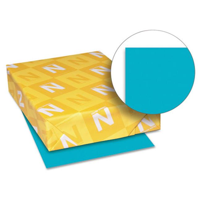 Wausau Papers 21849 8.5 x 11, Astrobrights Colored Paper, 500 Sheet - Terrestrial Teal