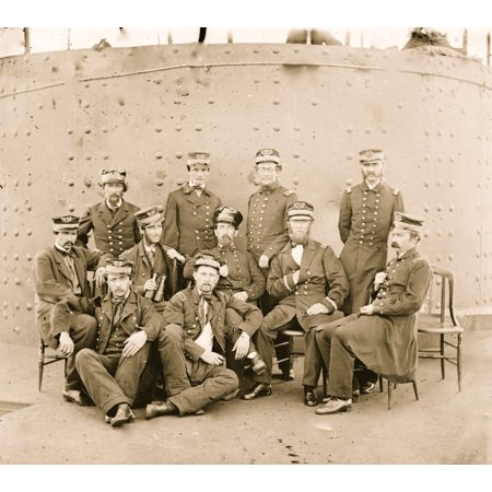 James River Virginia Group Of Officers On Deck Of The Monitor Poster Print