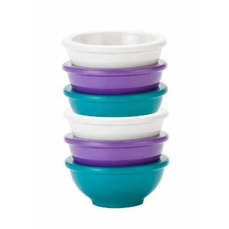 Colorways Mini Condiment Serving Bowl (6-piece set) - Assorted Caribea, Colorways 6-piece Plastic Prep Bowl Set size 3 1/4 round x 1 1/4 h By Zak