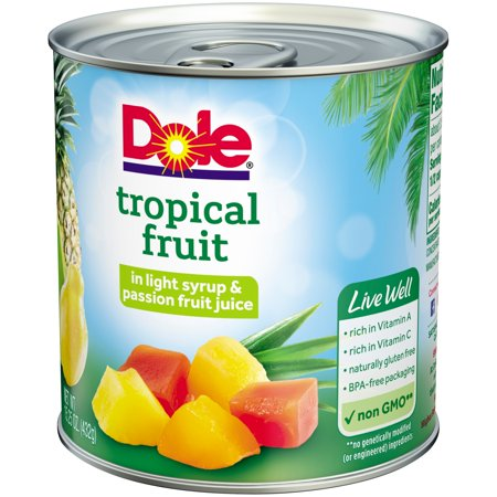 (3 Pack) Dole Tropical Fruit in Light Syrup & Passion Fruit Juice 15.25 oz. Can
