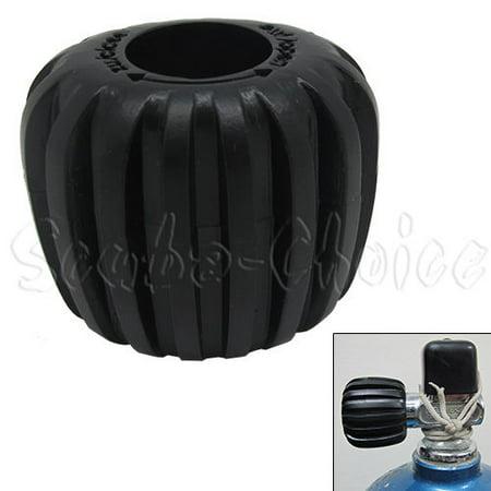 Scuba Choice Scuba Diving Tank Cylinder Valve Knob - Oval shape, Black