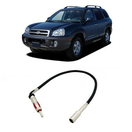 Fits Hyundai Santa Fe 03-06 Factory Stereo to Aftermarket Radio Antenna (Antenna Hyundai Santa)