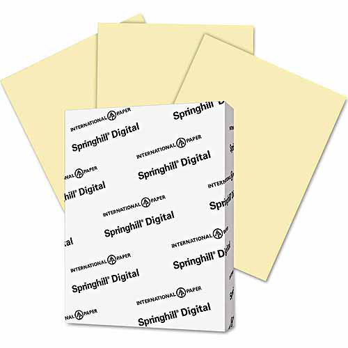 """Springhill Digital Index Color Card Stock, 8.5"""" x 11"""", Canary, 250 Sheets"""