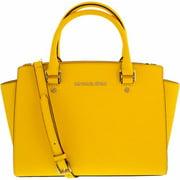 Women's Medium Selma Top-Zip Leather Top-Handle Satchel - Sunflower
