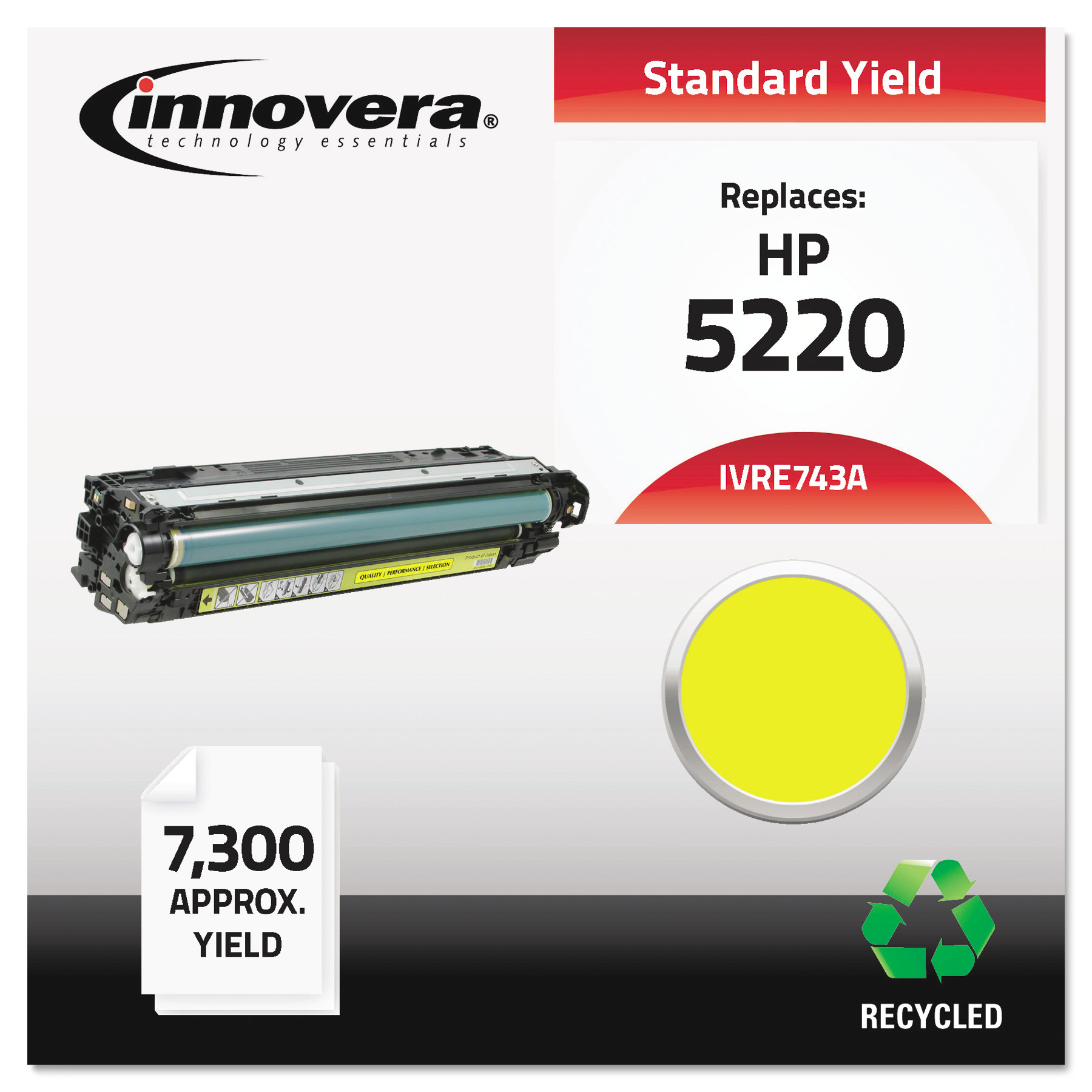 Innovera Remanufactured CE742A (307A) Toner, Yellow