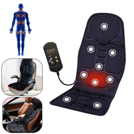 8 Mode 3 Intensity Car Home Chair Heat Therapy Full Body Infrared Vibration Shiatsu Kneading Rolling Massager Mat Pad Seat Cushion for Body Relief,Upper Lower