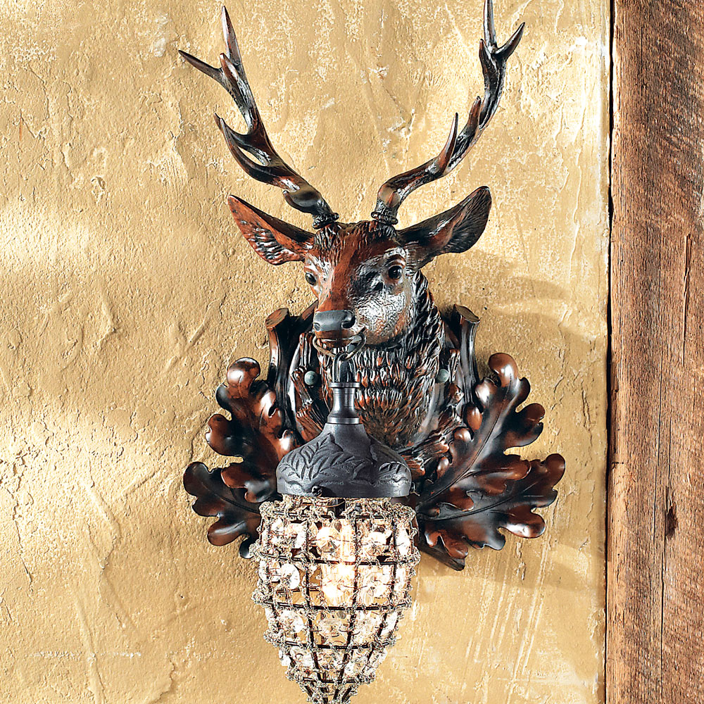 Right Facing Stag Wall Sconce - Walmart.com