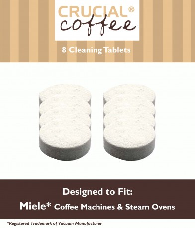8 Miele Coffee & Espresso Machine Cleaning Tablets, Part # 05626080, 07616440 by Crucial Vacuum