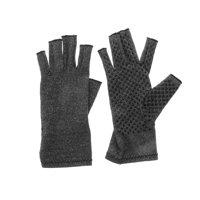 A Pair Anti Arthritis Gloves Fingerless Pain Relief Textured Open Finger Compression Gloves Support for Rheumatoid & Osteoarthritis