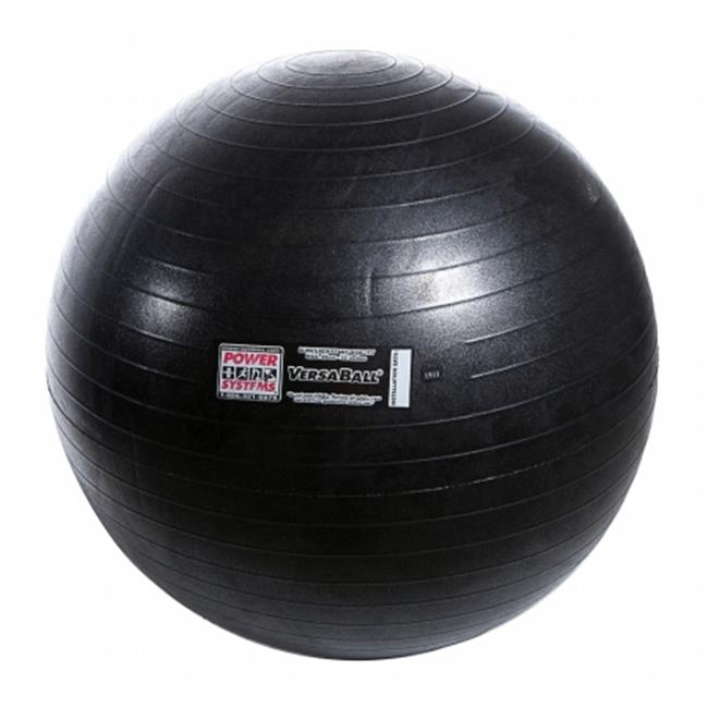Power Systems 80036 75cm VersaBall Stability Ball - Jet Black