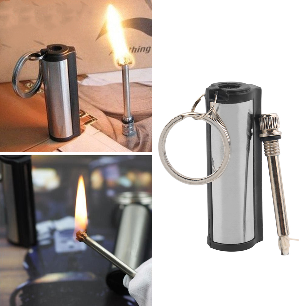 Survival Camping Emergency Fire Starter Flint Match Lighter With KeyChain
